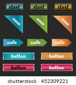 colorful buttons for web site | Shutterstock .eps vector #452309221