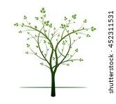 green tree. vector illustration. | Shutterstock .eps vector #452311531