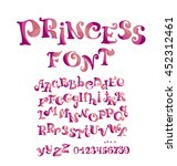 abc vector font for girl with...   Shutterstock .eps vector #452312461