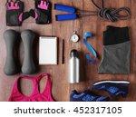 female sport equipment on a... | Shutterstock . vector #452317105