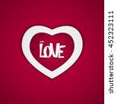 heart on red background vector... | Shutterstock .eps vector #452323111