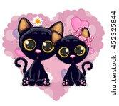 two cute kittens on a...   Shutterstock . vector #452325844
