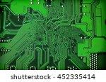 green microcircuit  computer...   Shutterstock . vector #452335414