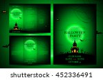 set of flyers for halloween.... | Shutterstock .eps vector #452336491