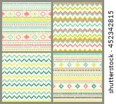 tribal hand drawn background ... | Shutterstock .eps vector #452342815