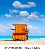 miami beach baywatch tower in...   Shutterstock . vector #452345299