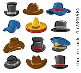 hats collection set. vector | Shutterstock .eps vector #452349985
