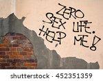 zero sex life. help me   ...   Shutterstock . vector #452351359