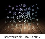science concept  glowing... | Shutterstock . vector #452352847