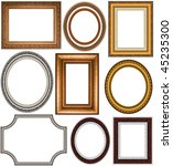 oval and rectangular gold... | Shutterstock . vector #45235300