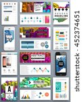 16 business abstract template... | Shutterstock .eps vector #452374651