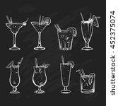 hand drawn sketch big set of... | Shutterstock .eps vector #452375074