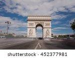 triumphal arch. paris. france.... | Shutterstock . vector #452377981