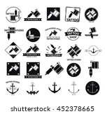 25 different tattoo icons set... | Shutterstock .eps vector #452378665