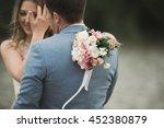 elegant beautiful wedding... | Shutterstock . vector #452380879