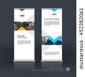 vector set of modern roll up... | Shutterstock .eps vector #452382061