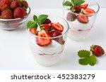 fresh strawberries dessert... | Shutterstock . vector #452383279
