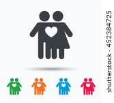 couple love icon. traditional... | Shutterstock .eps vector #452384725