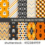 ten halloween different... | Shutterstock .eps vector #452384959