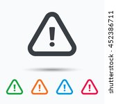 warning icon. attention... | Shutterstock .eps vector #452386711