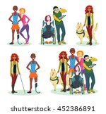happy disabled children with... | Shutterstock .eps vector #452386891