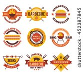 barbecue  grill  steak house... | Shutterstock .eps vector #452387845