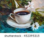 painting texture oil painting... | Shutterstock . vector #452395315