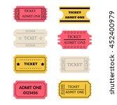 ticket admit one set. vector... | Shutterstock .eps vector #452400979