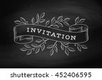 greeting card with inscription... | Shutterstock .eps vector #452406595