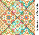 abstract seamless patchwork... | Shutterstock .eps vector #452414344