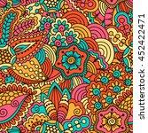 hand drawn seamless pattern...   Shutterstock .eps vector #452422471