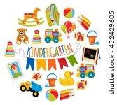 vector pattern for kindergarten ... | Shutterstock .eps vector #452429605