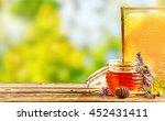 Jar Of Fresh Honey With...