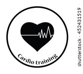 icon of heart with cardio... | Shutterstock .eps vector #452431519