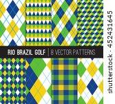 rio brazil golf style patterns. ... | Shutterstock .eps vector #452431645