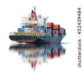 logistics and transportation of ... | Shutterstock . vector #452439484