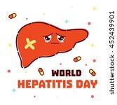 world hepatitis day awareness... | Shutterstock .eps vector #452439901