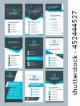 set of modern vertical business ... | Shutterstock .eps vector #452444527