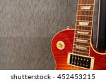 electric guitar leaning against ... | Shutterstock . vector #452453215