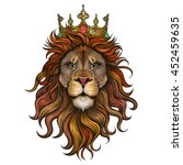vector color king lion... | Shutterstock .eps vector #452459635