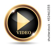 video play icon. internet... | Shutterstock . vector #452461555