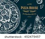 pizza design template. vector... | Shutterstock .eps vector #452475457