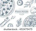 pizza design template. vector... | Shutterstock .eps vector #452475475