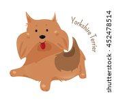 yorkshire terrier isolated on... | Shutterstock .eps vector #452478514