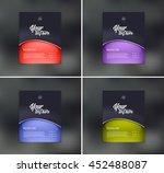 vector flyer design templates... | Shutterstock .eps vector #452488087