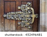vintage hinge on the church... | Shutterstock . vector #452496481