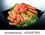 red king crab served on black... | Shutterstock . vector #452497501
