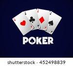 poker cards  poker aces... | Shutterstock .eps vector #452498839