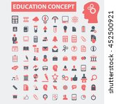 education icons | Shutterstock .eps vector #452500921