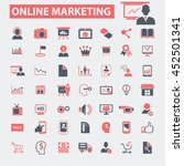 online marketing icons | Shutterstock .eps vector #452501341